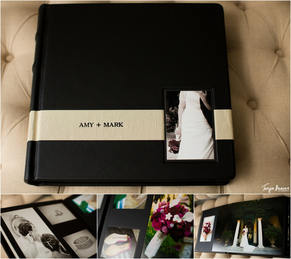Jacksonville wedding photographer; matted wedding album; leather craftsmen; tonya beaver photography; jacksonville beach studio