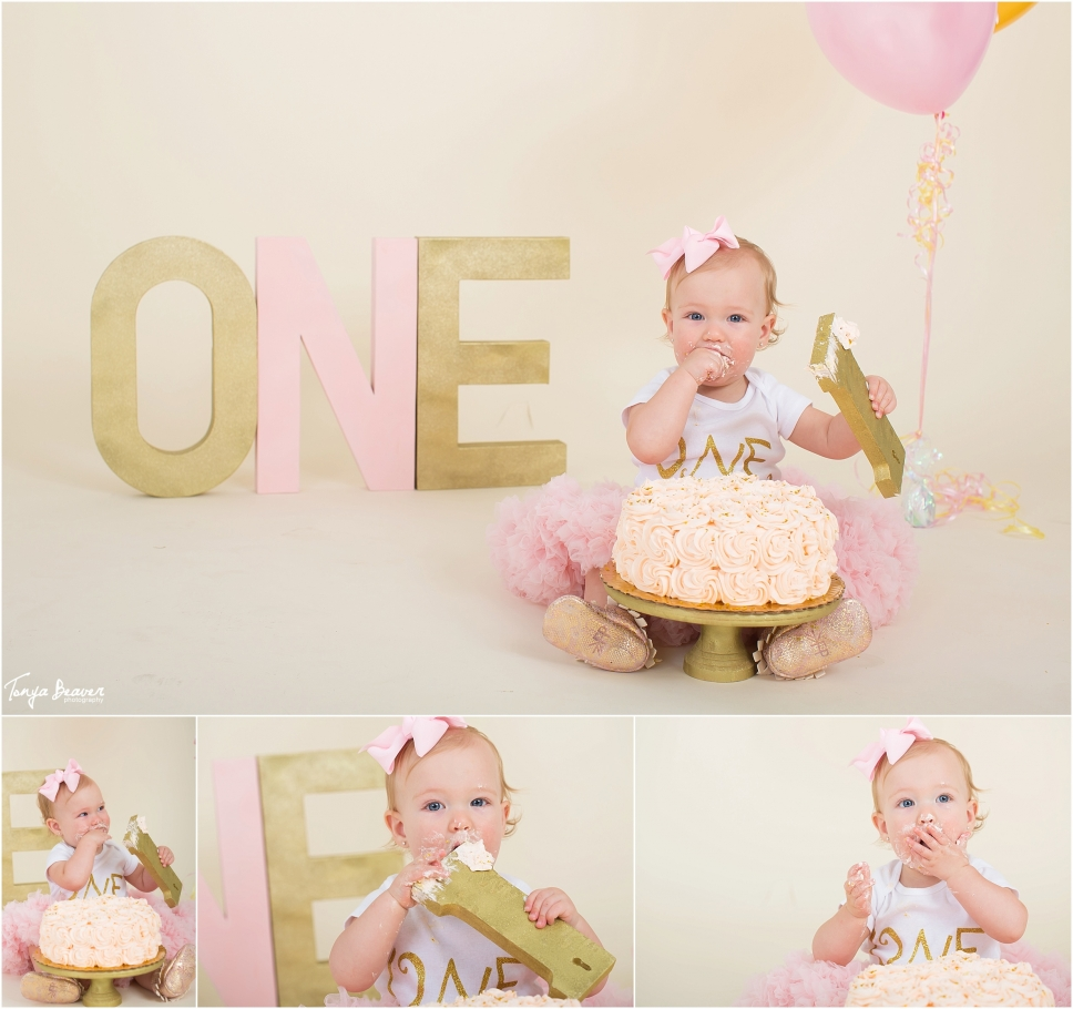 jacksonville cake smash photos; cake smash studio ideas; girl one year photos; photography studio cake smash; jacksonville kid photographer; tonya beaver photography003