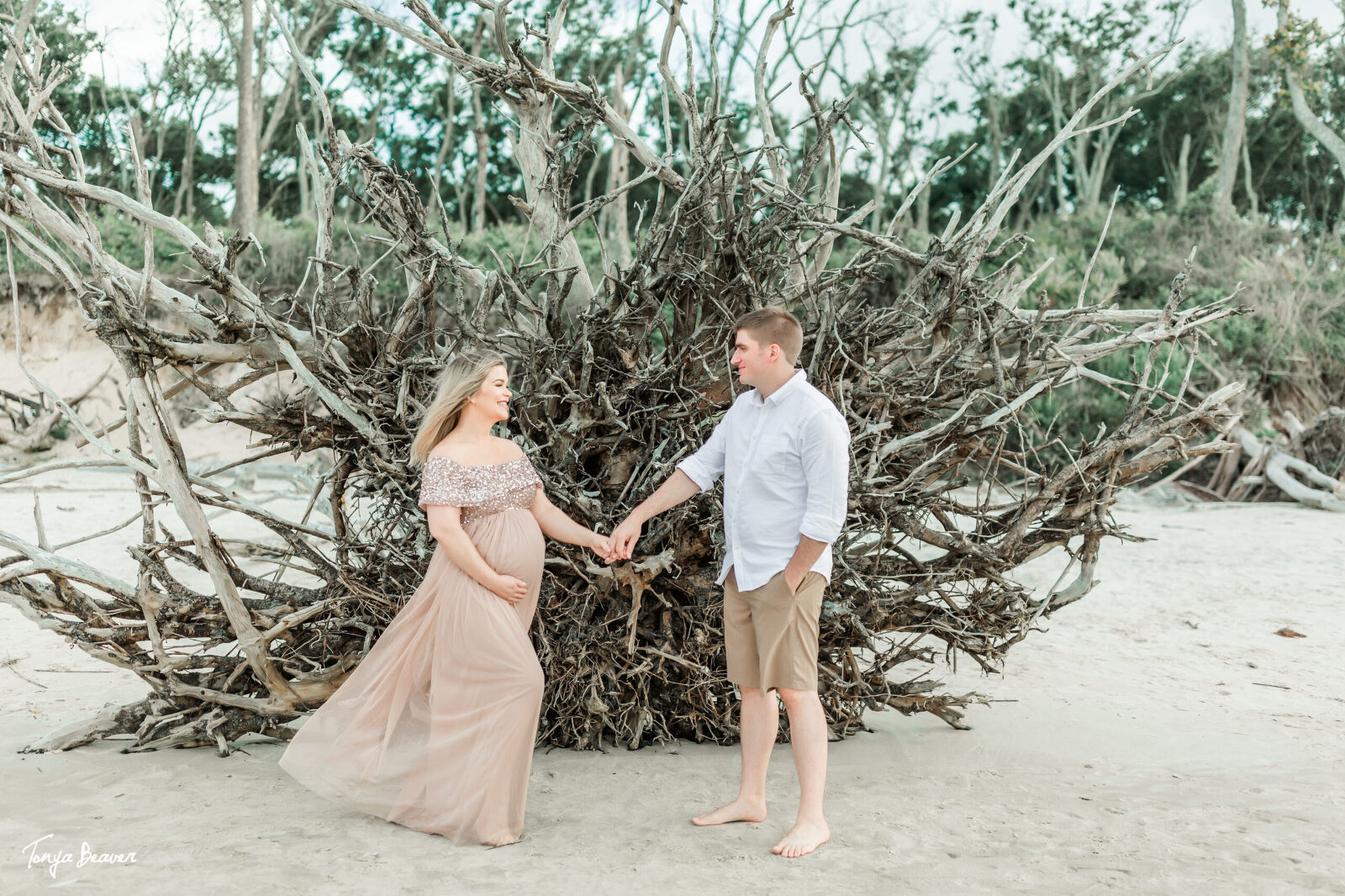 jacksonville maternity photos; little talbot island maternity photos